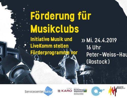 Workshop: Förderung für Musikclubs